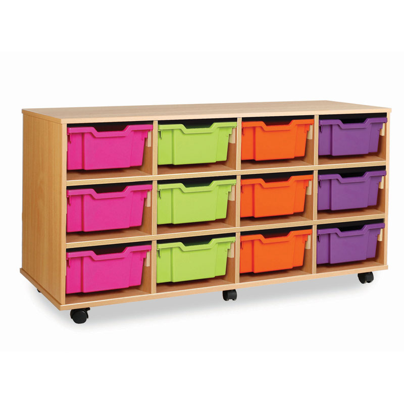 Combination Tray Storage Unit - 12 Deep or 24 Shallow - MEQ4012