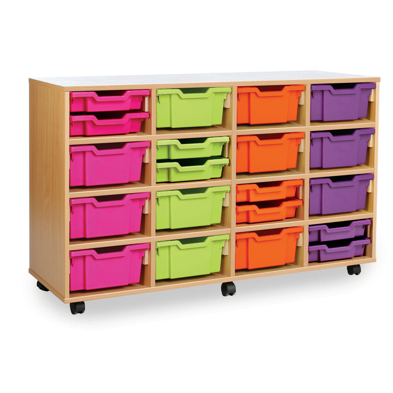 Combination Tray Storage Unit - 16 Deep or 32 Shallow - MEQ4016