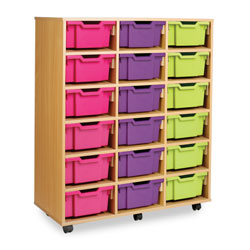 Combination Tray Storage Unit - 18 Deep or 36 Shallow