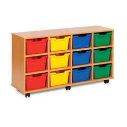 12 Cubby Tray Storage Unit