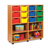 12 Cubby Tray Storage Unit with 4 Extra Deep Trays - MEQ8013