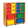 12 Cubby Tray Storage Unit with 4 Extra Deep Trays