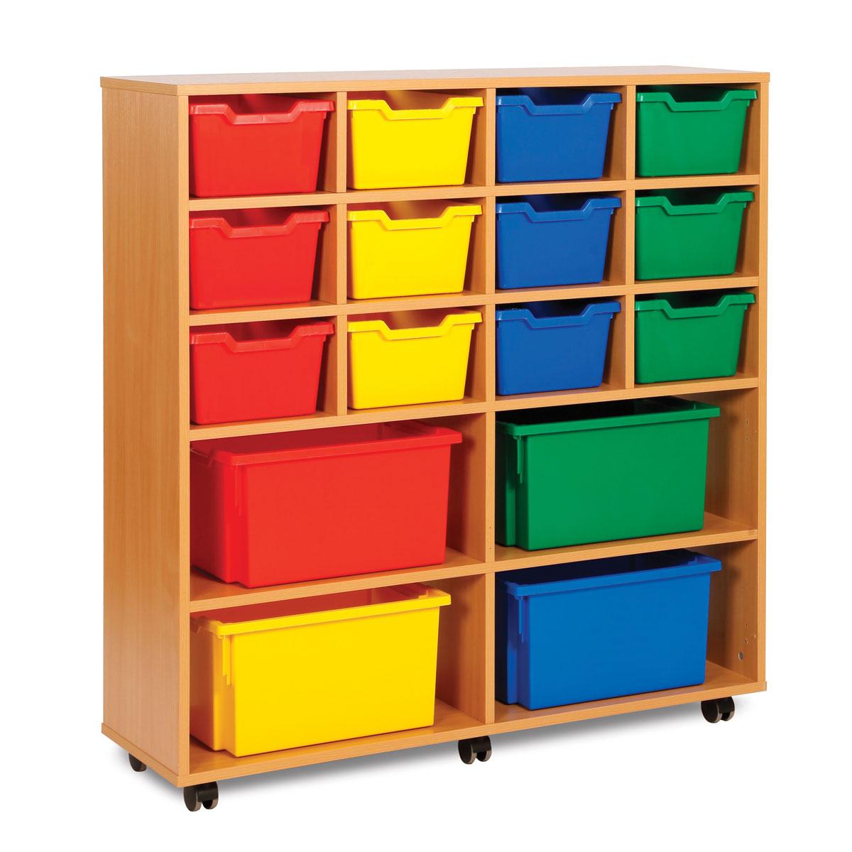Modular Classroom Crossword : Cubby tray storage unit with extra deep trays meq