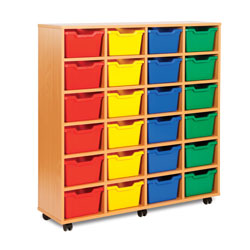 24 Cubby Tray Storage Unit