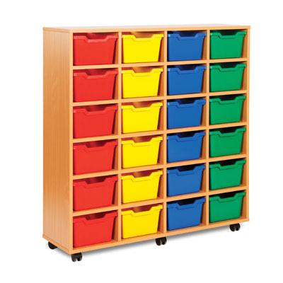 24 Cubby Tray Storage Unit - MEQ8024