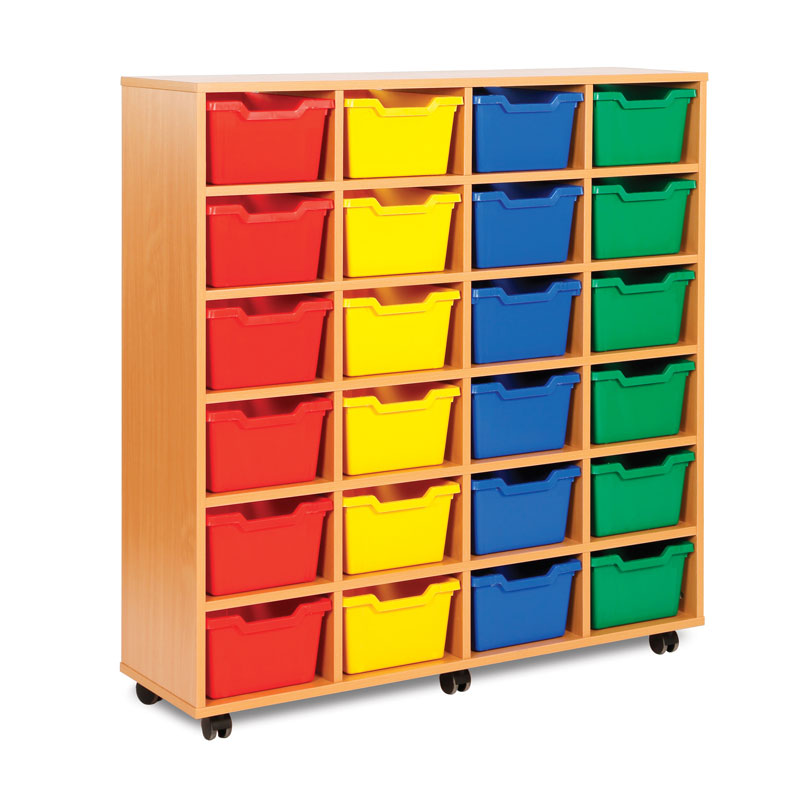 24 Cubby Tray Storage Unit - MEQ8024