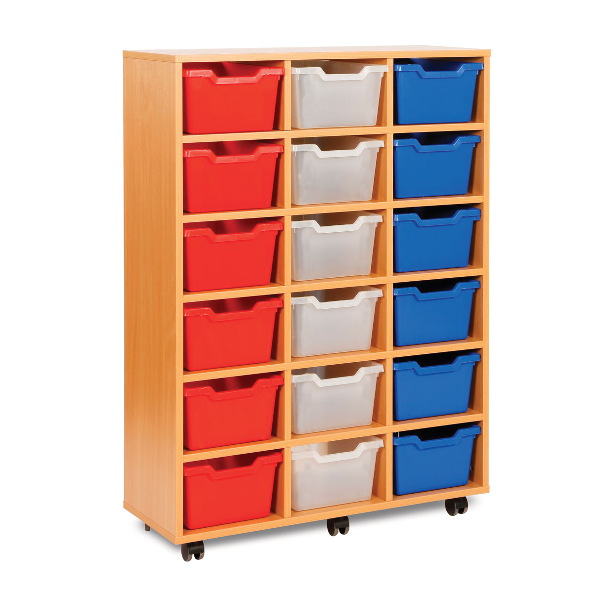 buy 18 cubby tray storage unit primary ict shop for primary schools early years secondary. Black Bedroom Furniture Sets. Home Design Ideas
