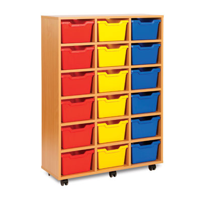18 Cubby Tray Storage Unit - MEQ8018