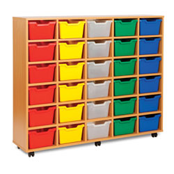 30 Cubby Tray Storage Unit