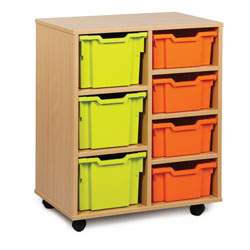 4 Deep & 3 Extra Deep Tray Storage Unit