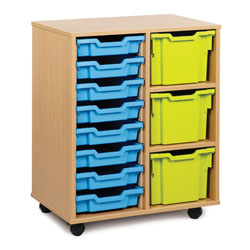 8 Shallow & 3 Extra Deep Tray Storage Unit