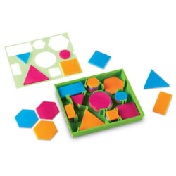 Brights! Attribute Blocks (60 Pieces) - by Learning Resources