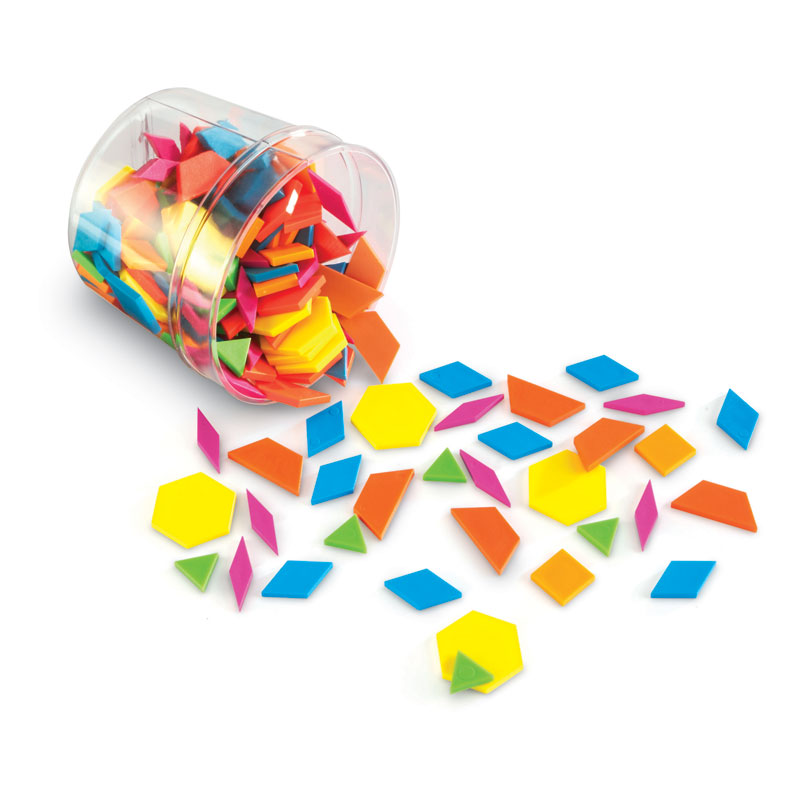 Brights! Pattern Blocks (250 Pieces) - by Learning Resources - LER3550
