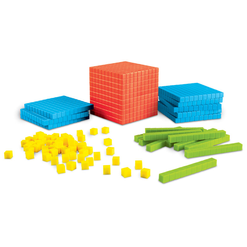 Brights! Base 10 Starter Set (141 Pieces) - by Learning Resources - LER3551