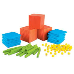 Brights! Grooved Base 10 Classroom Set (823 Pieces) - by Learning Resources [LER3552]