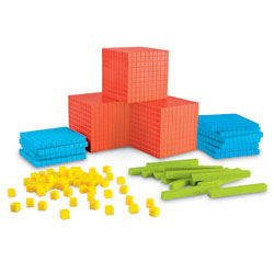 Brights! Grooved Base 10 Classroom Set (823 Pieces) - by Learning Resources