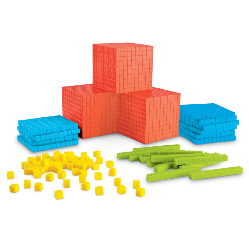 Brights! Grooved Base 10 Classroom Set (823 Pieces) - by Learning Resources - LER3552