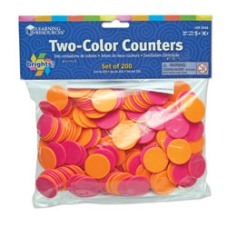 Brights! 2-Colour Counters (200 Pieces) - by Learning Resources