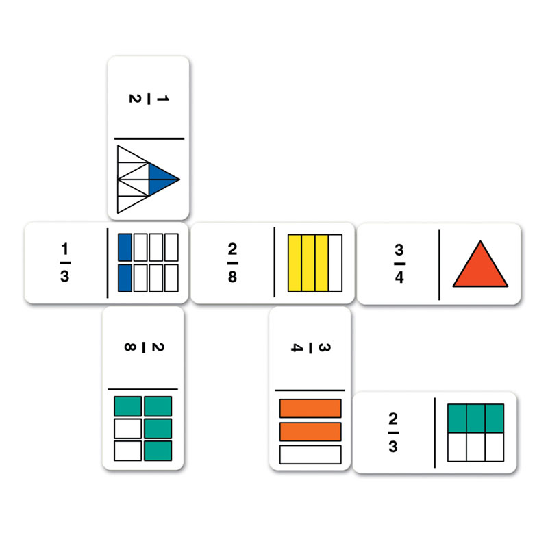 Rainbow Fraction Dominoes - by Learning Resources - LSP2500-UKM