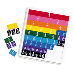 Rainbow Fraction Tiles with Tray - by Learning Resources