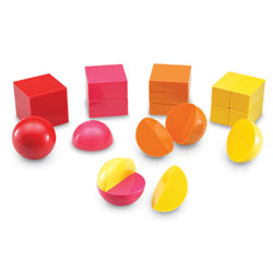 Magnetic 3D Rainbow Fraction Shapes - by Learning Resources