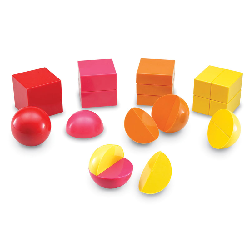 Magnetic 3D Rainbow Fraction Shapes - by Learning Resources - LER1911