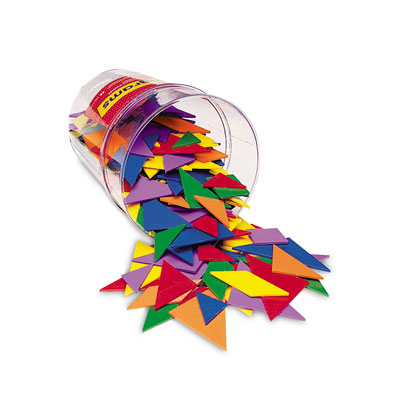 Six-Colour Tangrams Tub - Set of 30 Tangrams - by Learning Resources - LER0416-6