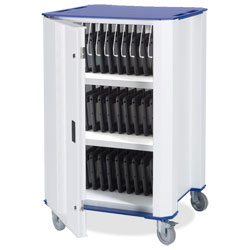 Nuwco Tablet Trolley PlasTab 32 - with AC Charging - with a choice of Red, Green, Yellow or Blue trim