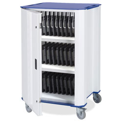 Nuwco Tablet Trolley PlasTab 32 - with USB Charging - with a choice of Red, Green, Yellow or Blue trim