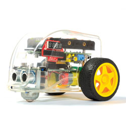 Pi2Go Raspberry Pi Programmable Floor Robot - Basic Kit (Robot & Software SD Card with Adapter) [EL00494]