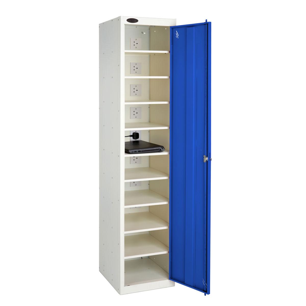 Nuwco laplocker 10 10 bay laptop locker with key lock Storage bay
