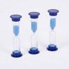 Set of 3 Mini Sand Timers - 5 Minute - Blue