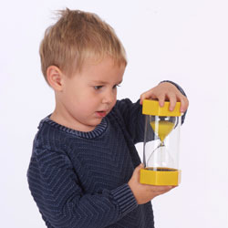 TickiT Large Sand Timer 3 Minutes (Yellow)