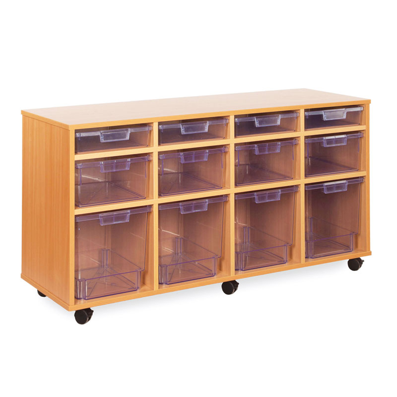 12 Variety Tray Storage Unit - with Clear Trays - CE2122MCL