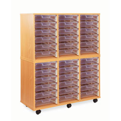 36 Shallow Tray Storage Unit - with Clear Shallow Trays