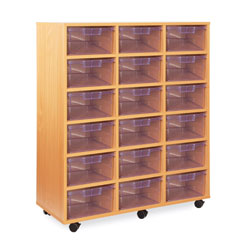 18 Deep Tray Storage Unit - with Clear Deep Trays