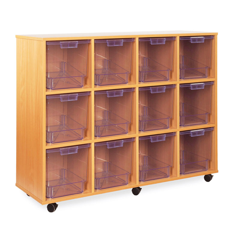 12 Jumbo Tray Storage Unit - with Clear Jumbo Trays - CE2114MCL