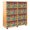 16 Jumbo Tray Storage Unit - with Clear Jumbo Trays