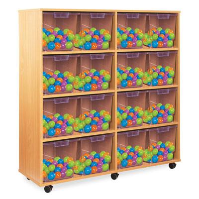 16 Jumbo Tray Storage Unit - with Clear Jumbo Trays - CE2127MCL