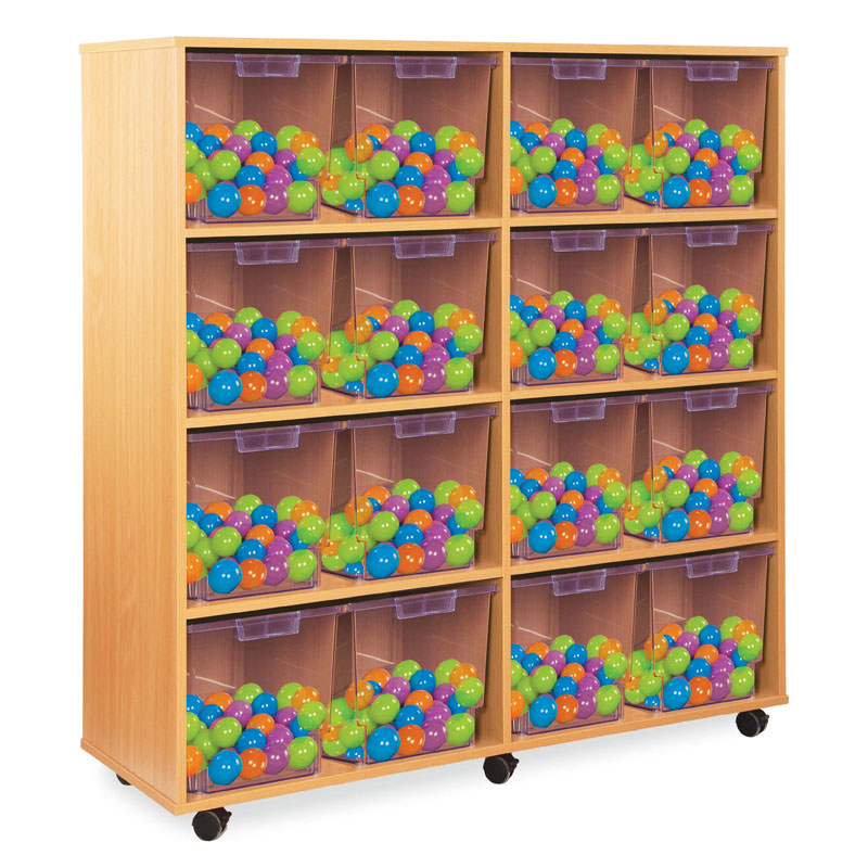 16 Jumbo Tray Storage Unit - with Clear Jumbo Trays - CE2127MCL