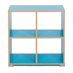 Bubblegum 4 Cube Backless Room Divider (Horizontal)