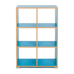 Bubblegum 6 Cube Backless Room Divider (Vertical)