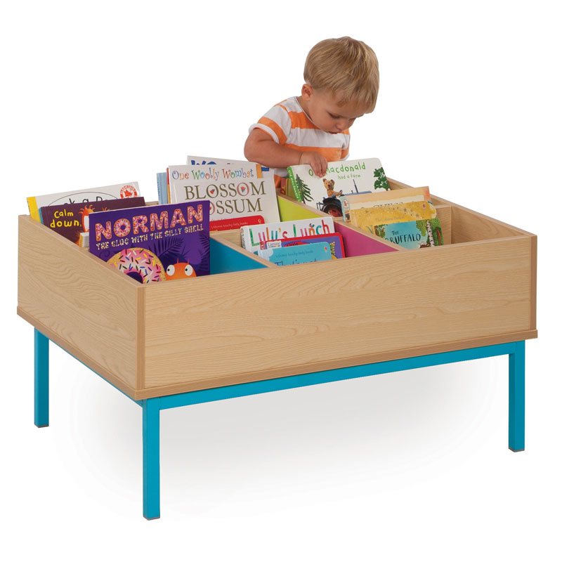 Bubblegum 6 Bay Kinderbox Book Storage Unit - with Legs - MEQ9014