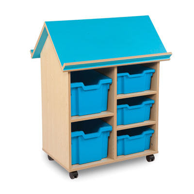 Bubblegum Book House with 3 Deep Trays & 2 Extra Deep Trays - MEQ9020