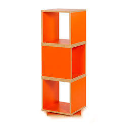 Bubblegum 360 Degree Swivel Storage - in Tangerine Orange