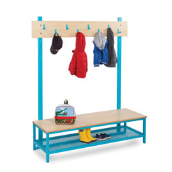 Bubblegum Cloakroom Bundle 3 - 8 Hooks & Boot Rack