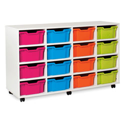 White Deep Tray Storage Unit - with 16 Gratnells Trays
