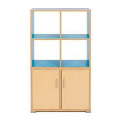 Bubblegum 4 Cube & 2 Bay Low Level Cupboard Room Divider