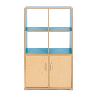 Bubblegum 4 Cube & 2 Bay Low Level Cupboard Room Divider - RDIV-B1