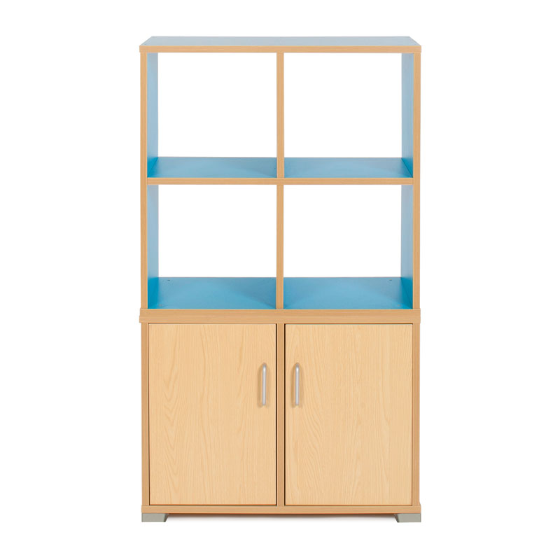 Bubblegum 4 Cube & 2 Bay Low Level Cupboard Room Divider - RDIV-B1